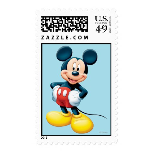 Mickey Mouse 6 Postage Stamps