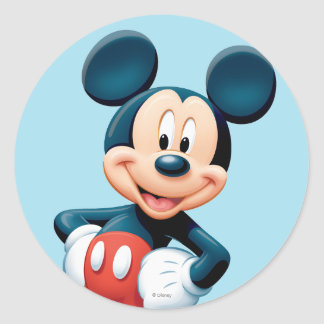 Mickey Mouse 6 Round Stickers