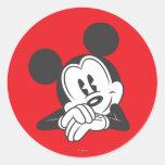 Mickey Mouse 7 Etiqueta Redonda