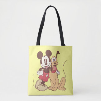 Mickey Mouse and Pluto Tote Bag