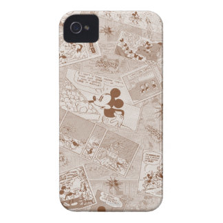Mickey Mouse | Antique Mickey Comic Pattern iPhone 4 Cover