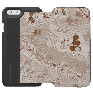 Mickey Mouse | Antique Mickey Comic Pattern iPhone 6/6s Wallet Case