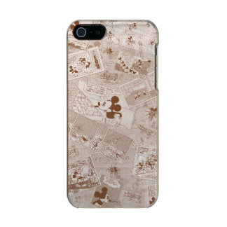 Mickey Mouse | Antique Mickey Comic Pattern Metallic iPhone SE/5/5s Case