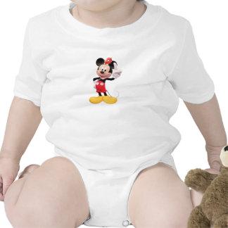 Mickey Mouse aumentó el dedo índice con el pájaro Trajes De Bebé