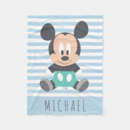 Mickey Mouse | Baby Mickey - Add Your Name Fleece Blanket