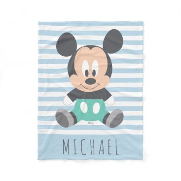 Disney Themed Mickey Mouse | Baby Mickey - Add Your Name Fleece Blanket