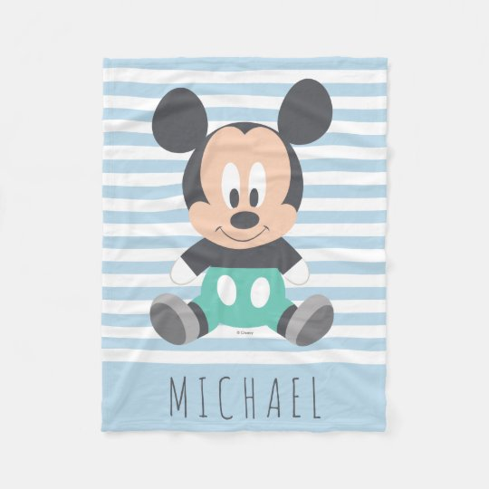 Mickey Mouse Baby Mickey Add Your Name Fleece Blanket