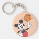 Mickey Mouse Basketball Player 1 Basic Round Button Keychain