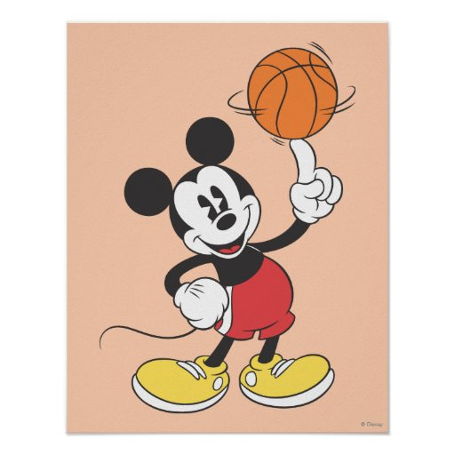 Mickey Mouse Basketball Player 1 Poster