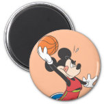 Mickey Mouse Basketball Player 2 2 Inch Round Magnet