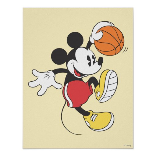 Mickey Mouse Basketball Player 3 Poster