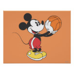 Mickey Mouse Basketball Player 4 Posters