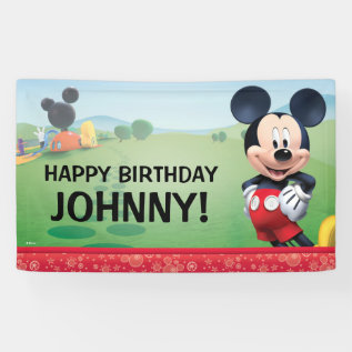 Mickey Mouse Birthday Banner at Zazzle