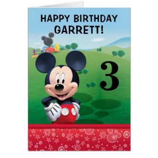 Mickey Mouse Birthday Card