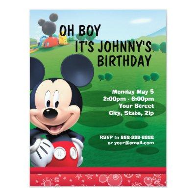 Mickey Mouse Birthday Invitation 4.25