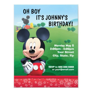 disney Mickey Mouse Birthday Invitation