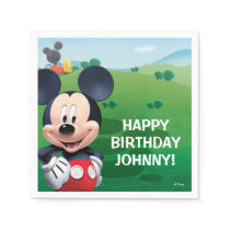 Mickey Mouse Birthday Paper Napkin