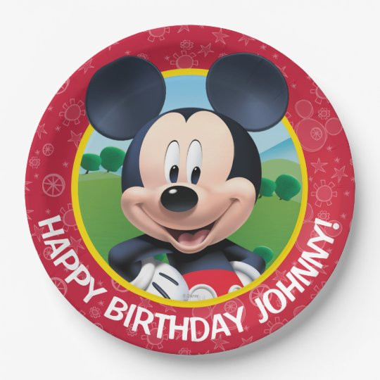 Mickey Mouse Birthday Paper Plate Zazzle Com