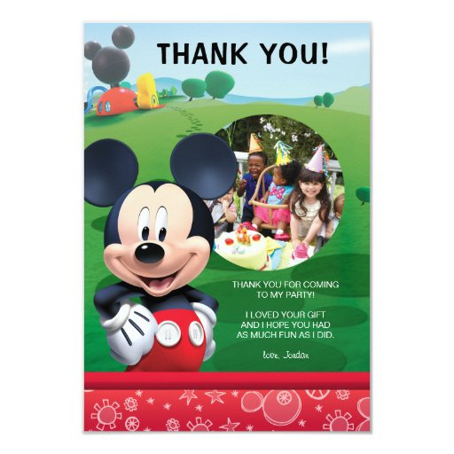 Mickey Mouse Birthday Thank You Cards - $1.86