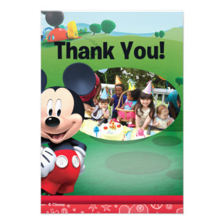 Mickey Mouse Birthday Thank You Cards Custom Announcements
