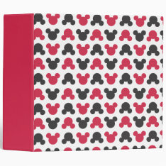 Mickey Mouse | Black And Red Pattern Binder at Zazzle