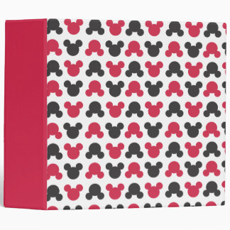 Mickey Mouse | Black and Red Pattern Binder