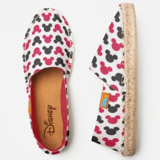 Mickey Mouse | Black and Red Pattern Espadrilles