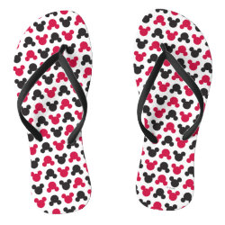 Adult Slim Straps Flip Flops with Mickey Mouse Patterns design