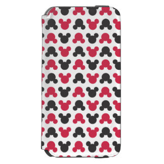 Mickey Mouse   Black and Red Pattern iPhone 6/6s Wallet Case