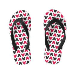 Flip Flops, Kids with Mickey Mouse Patterns design