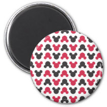 Mickey Mouse | Black and Red Pattern Magnet