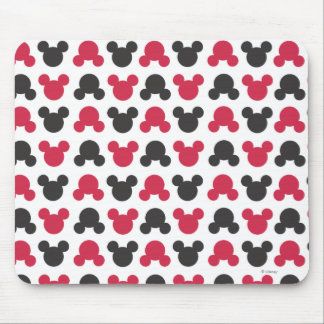 Mickey Mouse | Black and Red Pattern Mouse Pad