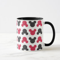 Mickey Mouse | Black and Red Pattern Mug