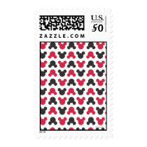 Mickey Mouse | Black and Red Pattern Postage