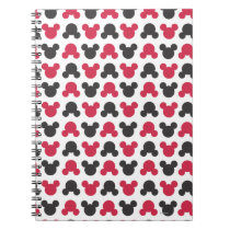Mickey Mouse | Black and Red Pattern Spiral Notebook