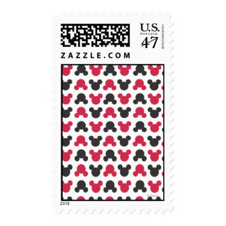 Mickey Mouse | Black and Red Pattern Stamp