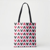 Mickey Mouse | Black and Red Pattern Tote Bag