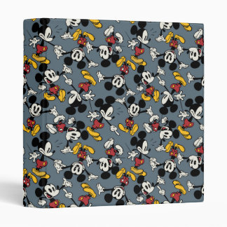 Mickey Mouse Blue Pattern 3 Ring Binder