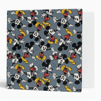 Mickey Mouse Blue Pattern Binder