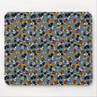 Mickey Mouse Blue Pattern Mouse Pad