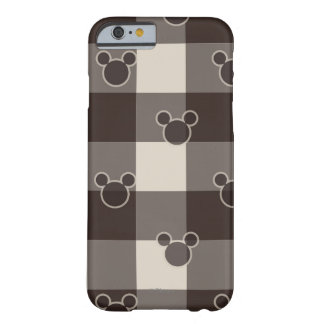 Mickey Mouse   Brown Plaid Pattern Barely There iPhone 6 Case