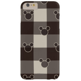 Mickey Mouse   Brown Plaid Pattern Barely There iPhone 6 Plus Case
