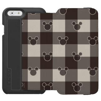 Mickey Mouse   Brown Plaid Pattern iPhone 6/6s Wallet Case