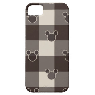 Mickey Mouse | Brown Plaid Pattern iPhone SE/5/5s Case