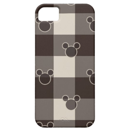 Mickey Mouse   Brown Plaid Pattern iPhone SE/5/5s Case