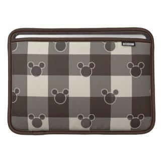 Mickey Mouse | Brown Plaid Pattern MacBook Air Sleeve
