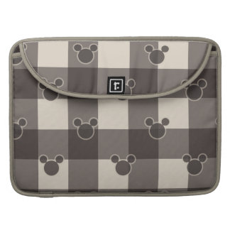 Mickey Mouse | Brown Plaid Pattern MacBook Pro Sleeve