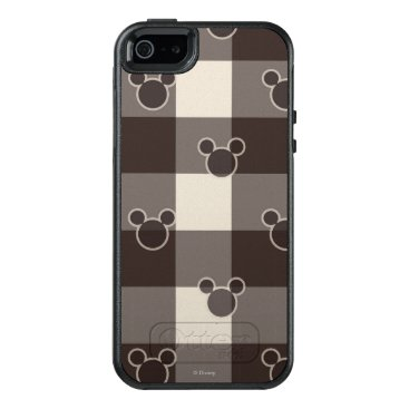 Disney Themed Mickey Mouse   Brown Plaid Pattern OtterBox iPhone 5/5s/SE Case