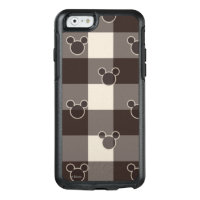 Mickey Mouse | Brown Plaid Pattern OtterBox iPhone 6/6s Case