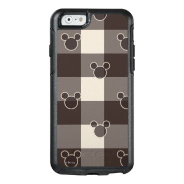 Disney Themed Mickey Mouse   Brown Plaid Pattern OtterBox iPhone 6/6s Case